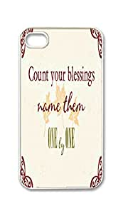 Custom iPhone 4 4S 4G Case , Count Your Blessings Hard Plastic Protective Cases Cover by Foreverway --333