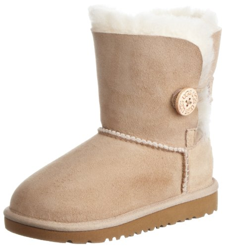 Ugg 5991 Bailey Button Per Bambini, Stivali Da Ragazza Sable-v.3