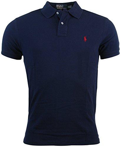 Polo Ralph Lauren Mens Custom Fit Mesh Polo Shirt  Navy  Large