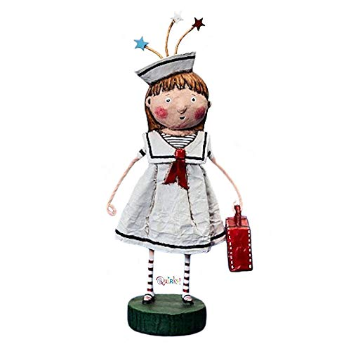 Lori Mitchell Bon Voyage Polyresin Sailor Dress Travel Vacation ()