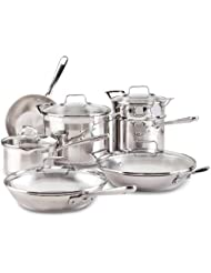 Emeril by All-Clad E884SC Chef s Stainless Steel Cookware Set, 12-Piece, Silver