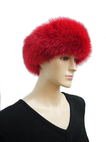Fox Fur Headband (Red) by Hima