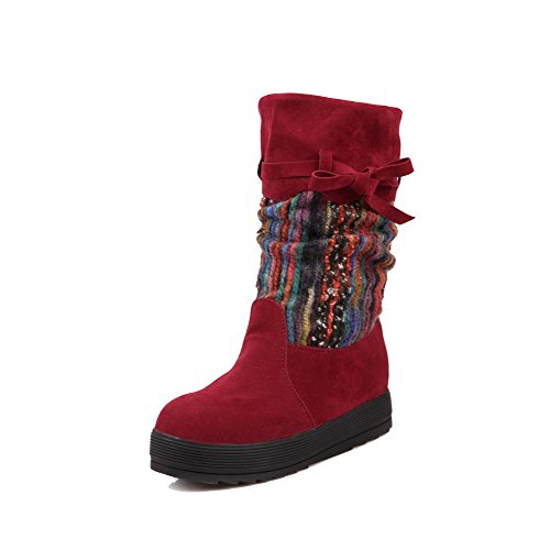 Women's Low-Heels Frosted Low-Top Assorted Color Pull-On Boots