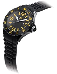 Unisex 40NINE03/BLACK/O Medium 40mm Analog Display Japanese Quartz Black Watch