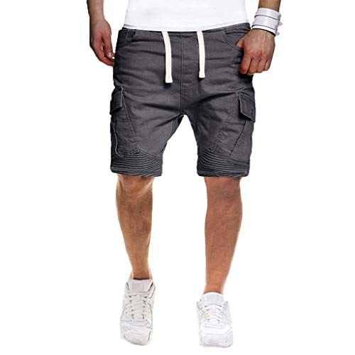 Stretch Moleskin Vest - hositor Jogger Pants for Men, Men's Sport Pure Color Bandage Casual Loose Sweatpants Drawstring Shorts Pant Gray