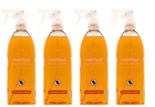 Method All-Purpose Naturally Derived Surface Cleaner, Cementine - 4 Packs - 28 Ounce ()