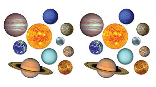 Beistle 54755 20Piece Solar System Cutouts, 4.25