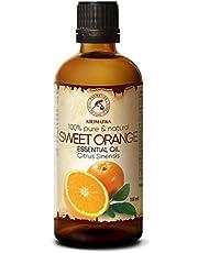 Aceite Esencial Naranja 100ml - 100% Puro y Natural - Efecto Contra la Celulitis - Fragancias para el Hogar - Mejor para la Belleza - Aromaterapia - Masaje - Baño - Difusor - Lámparas de Aroma
