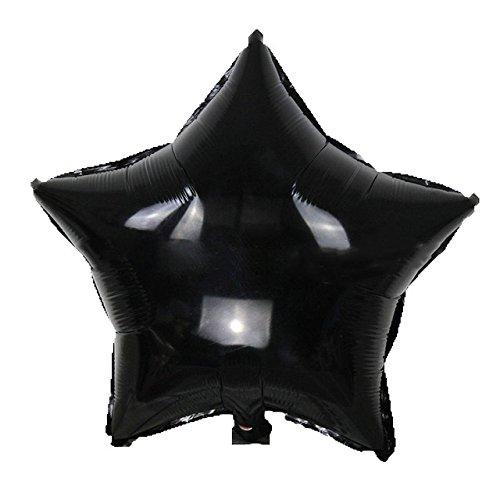 Star Shape Foil Balloon - Yalulu 10pcs Star Shape Foil Mylar Balloons Pentagram Balloon For Birthday Party Wedding Decoration (Black)