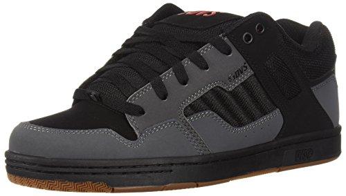 DVS Men's Enduro 125 Skate Shoe, Charcoal Black Nubuck, 10.5 Medium US
