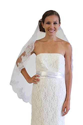 White Alencon Lace One Tier 36