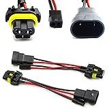 iJDMTOY (2) 9006/9005 To Bi-Xenon Solenoid Magnetic Hi/Lo Adapter Splitter Wires For Headlamp Projector Lens Retrofit