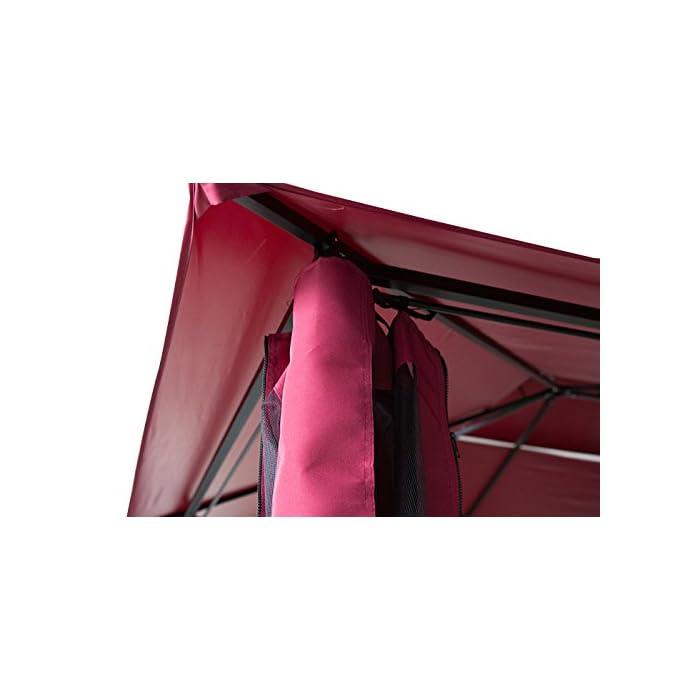41aZy3P32CL Pabellón de metal con tela impermeable y mejor flujo de aire a través de doble techo Paredes laterales incluidas en el suministro Montaje sin tornillos