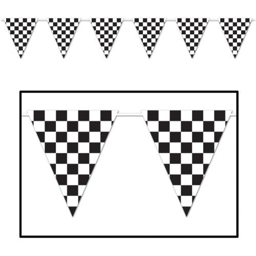 (Checkered Giant Pennant Banner Party Accessory (1 count))