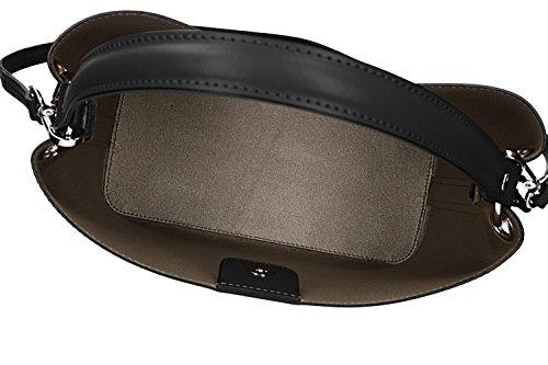 Tasche damen von Hand PIERRE CARDIN schwarz leder Made in Italy VN1088