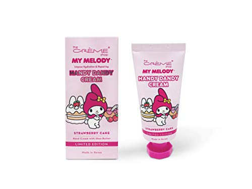 The Crème Shop Korean Cute Scented Pocket Portable Soothing Advanced Must-Have on-the-go - The Crème Shop x Sanrio Hello Kitty Handy Dandy Cream (Strawberry Cake) (Kitty Hello Macaron)