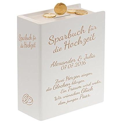 Hochzeitsspruch Für Karte Geldgeschenk.Geschenke 24 Sparbuch Mit Hochzeitssprüchen Und Gravur Weiß