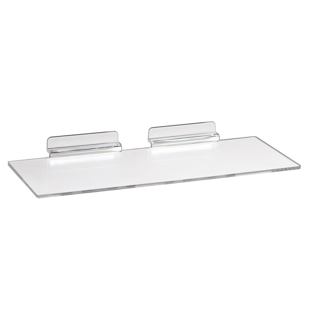 Econoco Commercial Injection Molded Styrene Shoe Shelf, Clear (Pack of 100)