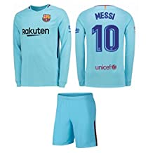 Barcelona Away Messi Kids #10 Soccer Kit Jersey and Shorts All Youth Sizes