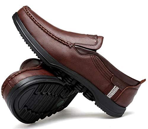 Uomo Scarpe da Cucite Pelle Scarpe Quotidiane Brown2 A Scarpe in Mano Casual Calzature PxHwfvqn5f