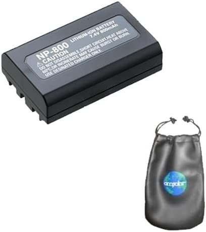 Amazon Com Digital Replacement Camera And Camcorder Battery For Minolta Np 800 Nikon En El1 Includes Lens Pouch Digital Camera Batteries Camera Photo