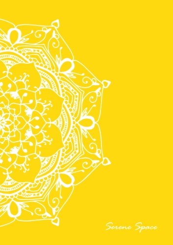 Serene Space: Yellow Dot Grid Notebook Mandala Art A5, 150 Dotted Pages, Softcover (Dot Grid Journal A5) (Volume 1)
