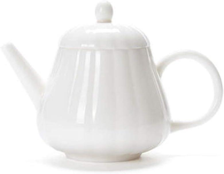 Tetera de Cerámica Tetera de cerámica exquisita porcelana blanca pequeña tetera de porcelana blanca Jade té de burbujas for granel Té y bolsitas de té para Cocina ( Color : White , Size : 200ml )