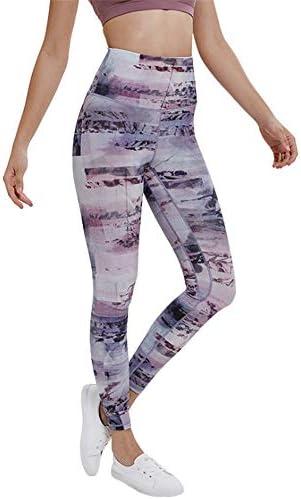 ウェア フィットネスヨガウェア ハイウエストレギンスシームレスなヨガパンツ女性のハイウエストタイトなヒップフィットネスパンツヨガクロップドパンツをサンディング 抜群な伸縮性をもち (色 : 紫の, Size : XXL)