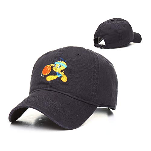 Warner Bros. Men's Looney Tunes Tweety Bird Basketball Baseball Cap, Navy, One Size