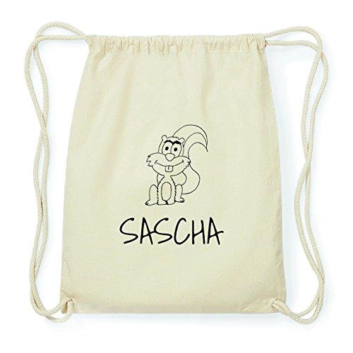 JOllipets SASCHA Hipster Turnbeutel Tasche Rucksack aus Baumwolle Design: Eichhörnchen sbvH6H26W