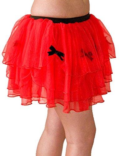 Starline Lingerie-unido-Falda para mujer, color rojo Rojo