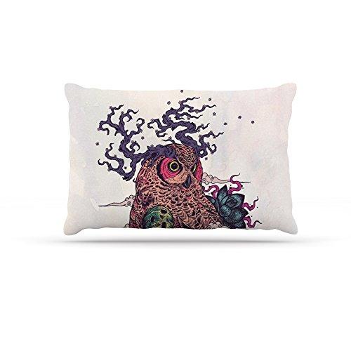Kess InHouse Mat Miller Regrowth  Fleece Dog Bed, 50 by 60 , Natural Owl