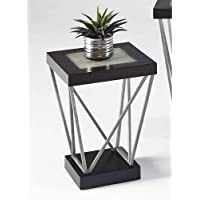 Progressive Furniture T370-29 East Bay Chairside Table, Black