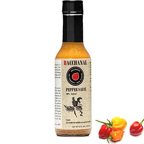 Orange Lime Sauce (Hot Sauce, Habanero Sauce, Scotch Bonnet Pepper, Hot Pepper Sauce, Hot Sauce with Flavor, Bacchanal Pepper Sauce 5oz)
