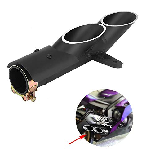 AjaxStore - Motorcycle Dual-outlet Exhaust Tail Pipe Muffler Tailpipe Tip for Yamaha YZF-R6 /Suzuki GSX-R/BMW S1000RR/Honda CBR250RR