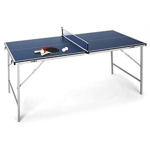 Klarfit King Pong Mini-Tischtennisplatte für Kinder Tischtennisplatte Set...