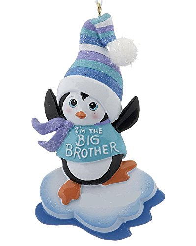 im the big brother im the big sister penguin christmas ornaments