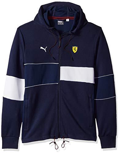 PUMA Men's Scuderia Ferrari Hooded Jacket, Peacoat, S