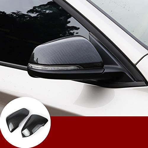 HOTRIMWORLD ABS Carbon Fiber Style Rearview Mirror Frame Trim Cover 2pcs for BMW X2 F39 2017-2019