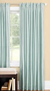 Better Homes and Gardens Thermal Faux-Silk Back-Tab Window Curtain Panel (Green Juniper, 54 W x 84 L)