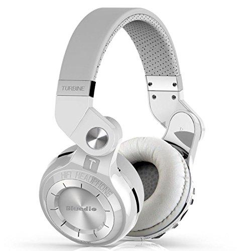 Bluedio T2+ Plus Turbine Bluetooth Wireless Stereo Headphones Bluetooth Headband Headset (White)
