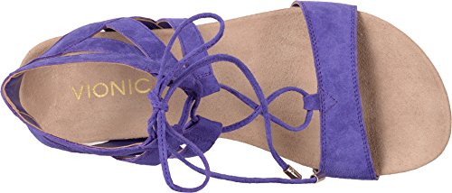 VIONIC Womens Noble Tansy Lace Up Espadrille Wedge Sandal Purple Size 5