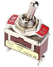 5st ON-ON 2 Position SPDT Vippströmbrytare 12mm 3 Skruvterminal 15A 250V för bil-, hushållsapparater, industriell kontroll och andra industrier