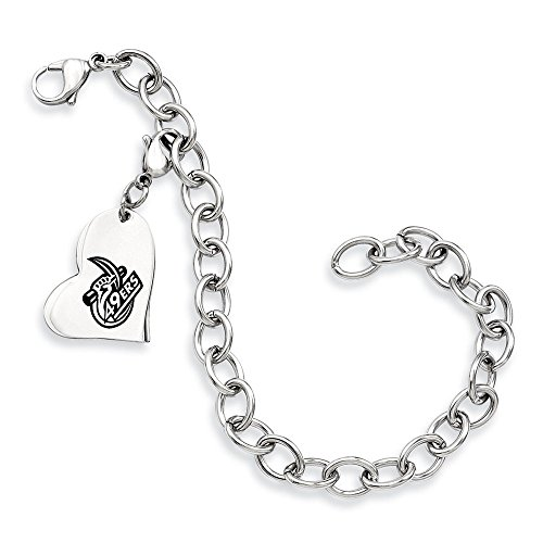 North Carolina Charlotte 49ers Stainless Steel Heart Brac...