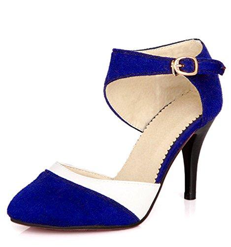 Minetom Scamosciato Scarpe Tacco Elegante Donne Pump Stiletto Colore Semplice Di Con Periodo D Scarpe Alto rx0rw1aZ