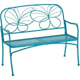 Product review for Generic Mainstays Vibrant Blue Care-free Finish Metal Whimsical Butterfly Bench Heavy-duty Steel Frame