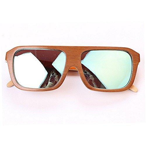 mano conduce mujeres las Retro polarizadas marco de a Gafas de gafas Gafas que los del de de hombres ULTRAVIOLETA bambú sol de Protección unisex cuadradas las sol hechas sol para Sungla clásicas Beach OFYqF