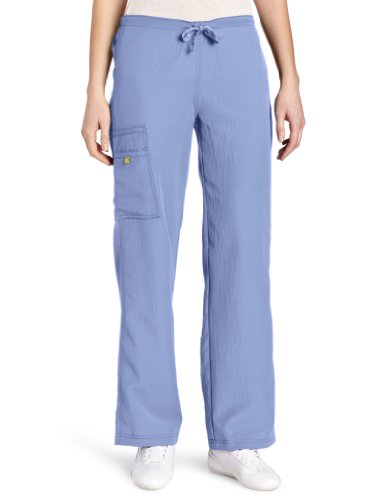 WonderWink Women's Scrubs Four Way Stretch Cargo Drawstring Pant, Ceil Blue, Small