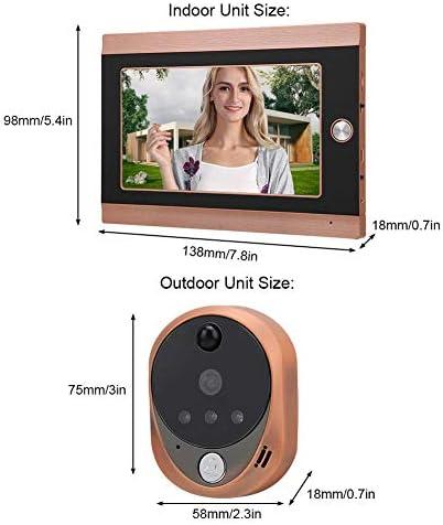 ドアベル、WIFIワイヤレスドアビューアードアベル7インチLCDスクリーン720P HD PIRカメラ16チャイム(英国100-240V)