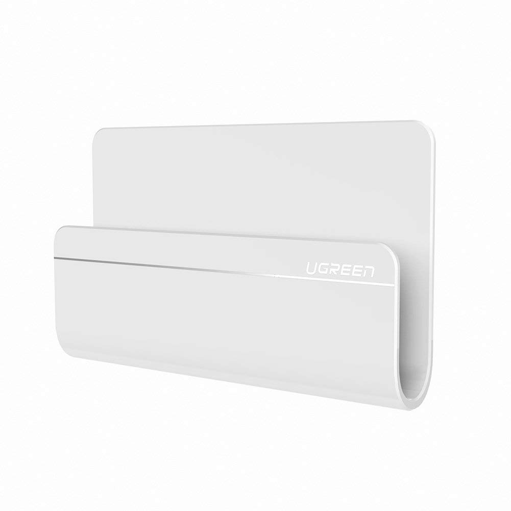 UGREEN Wall Mount Phone Holder with 3M Command Adhesive Strips Phone Charging Holder Compatible for iPhone, iPad, Tablet or Smartphone, White UGREEN GROUP LIMITED FBA_30394